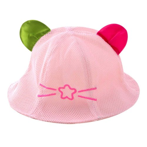 Pink Great Gift Baby Hat Summer Hat Lovely Cap Cotton Sunhat Foldable Beach Hat