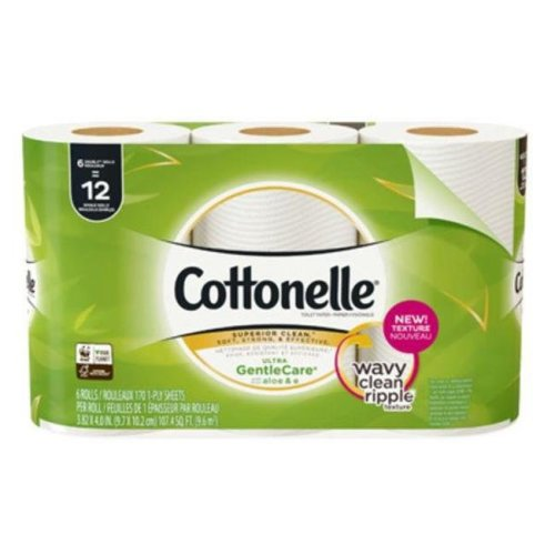 Kimberly-Clark 239470 1-Ply Gentle Care Double Roll Toilet Paper - Pack of 6