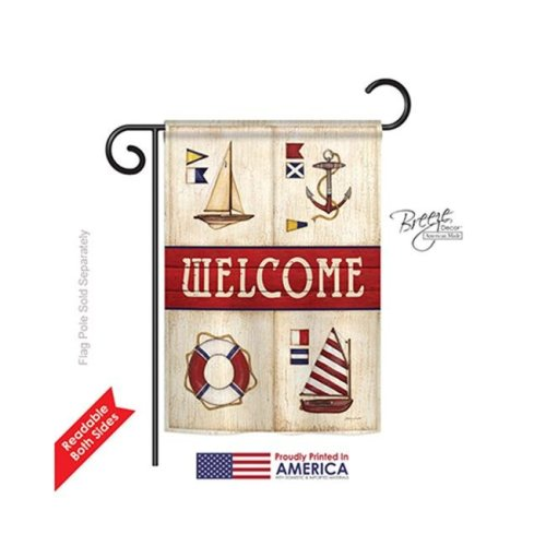 Breeze Decor 57003 Beach & Nautical Sailing Collage 2-Sided Impression Garden Flag - 13 x 18.5 in.
