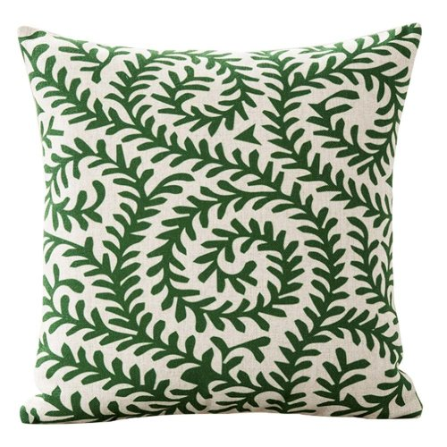 Green Rattan Bedroom Cushion Sofa Cushion Home Pillowcase(Insert Included)