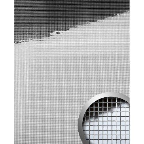 WallFace 10650 M-STYLE Wall panel interior wall decor glossy silver | 0.96 sqm