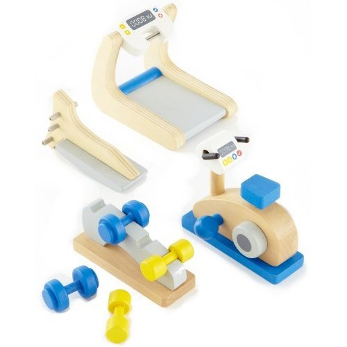 Hape Wooden Doll House Furniture Home Gym Playset Accessories