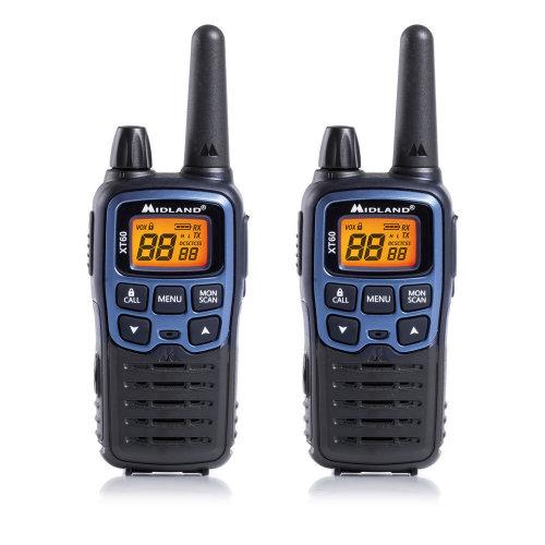 PMR / LPD portable Midland XT60 radio station with 2 pcs. blue metallic code C1179