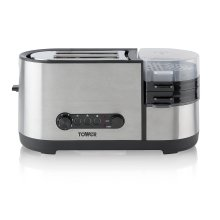 Tower T20012 2-Slice Toaster with Egg Cooker