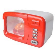 Mini Home Appliances Toy Cute Set Simulation Microwave Oven Toy-Red