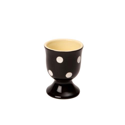 Dexam Polka Dot Egg Cup, Black