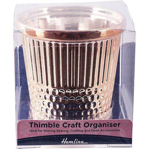 Tacony Rose Gold Thimble Craft Container-