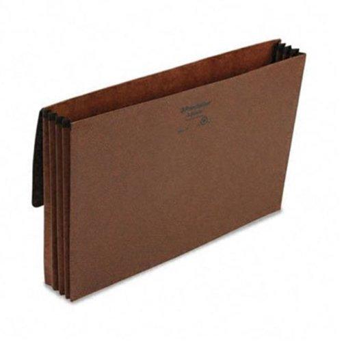 3 1/2 Inch Expansion Standard Wallet  Red Fiber  Legal  Red