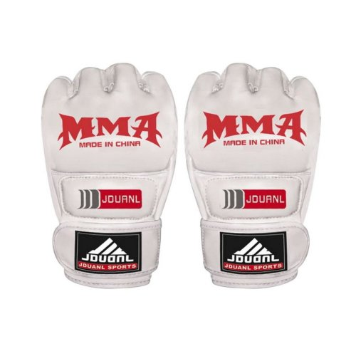 Adult Fighting Half-finger Gloves -UFC Boxing Gloves - Gloves MMA 2 -- White