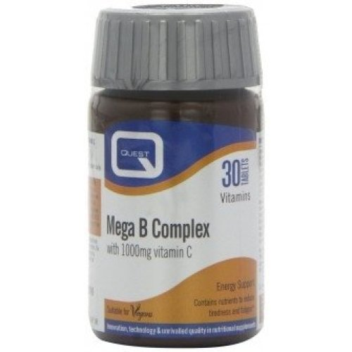 Quest - Mega B Complex & Vitamin C 1000Mg  30 Tablets