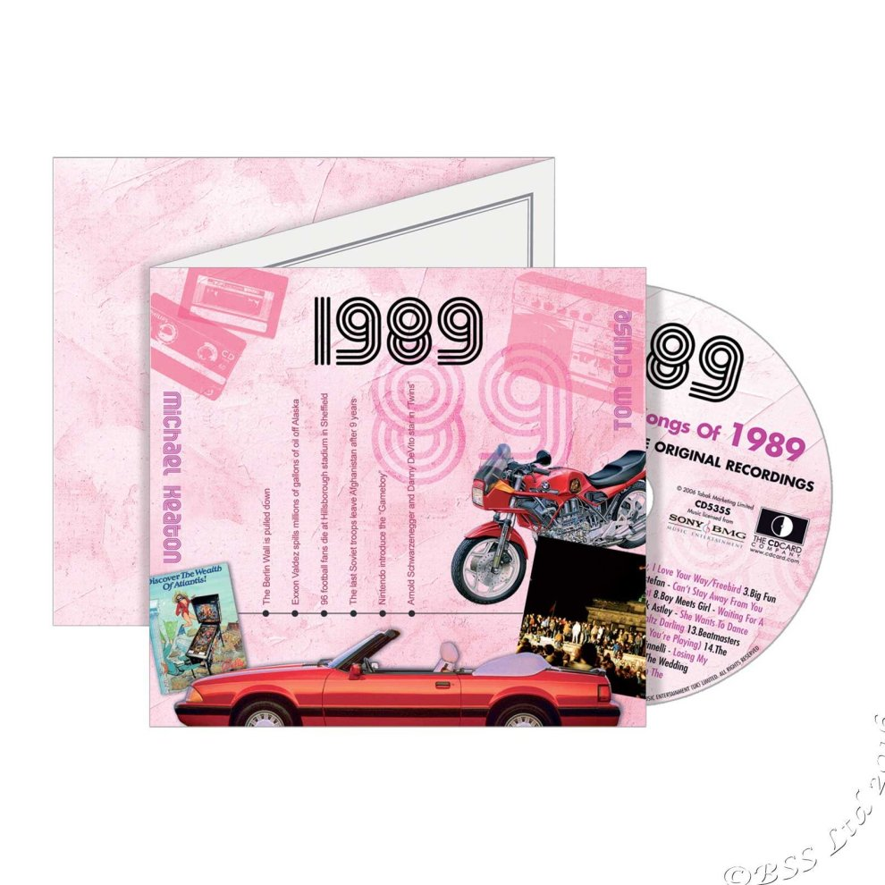 29th Anniversary or Birthday gift ~ Hit Music CD from 1989 ...