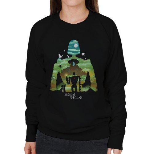 Laputa Castle In The Sky Robot Silhouette Women's Sweatshirt