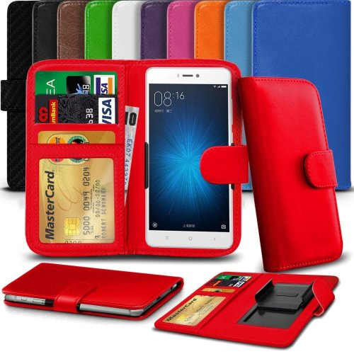 "iTronixs - Archos 55b Cobalt (5.5"") High Quality Clamp Style PU Leather Wallet Case Cover"