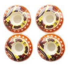 Fancy Orange Skateboard Wheels Set 51MM 100A