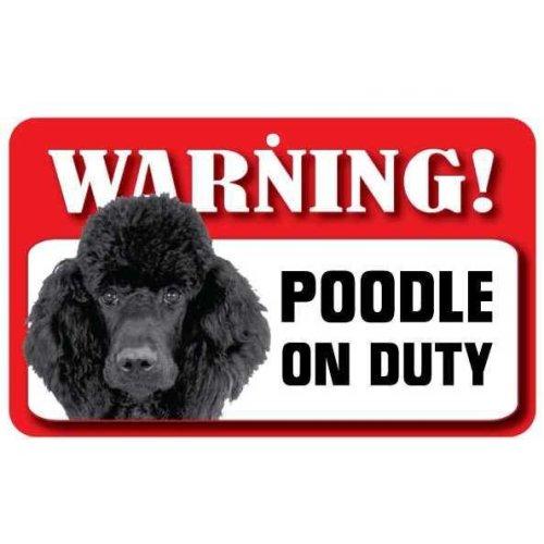 Black Poodle Pet Sign