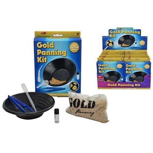 KandyToys Gold Panning Kit Set Mining Childrens Kids Boys Educational Science DIY Toy Set