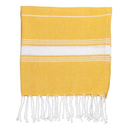 Nicola Spring 100% Turkish Cotton Micro Hand Towel | Travel Gym Kitchen Hammam Peshtemal Fouta Style Tea Cloth - Yellow