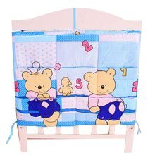 Lovely Bear Baby Bedside Bag Multilayer Pouch Storage Bag Diaper Bag