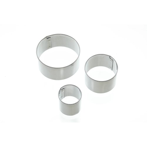 Set Of 3 Mini Stainless Steel Round Shaped Fondant Cutters