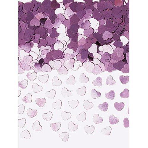 Sparkle Hearts Pink Metallic Confetti 14g -
