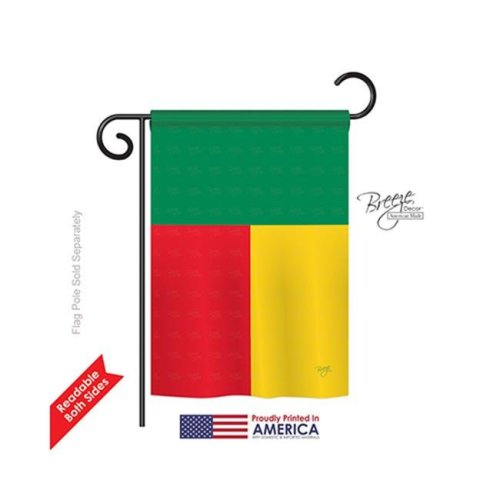 Benin 2-Sided Impression Garden Flag - 13 x 18.5 in.