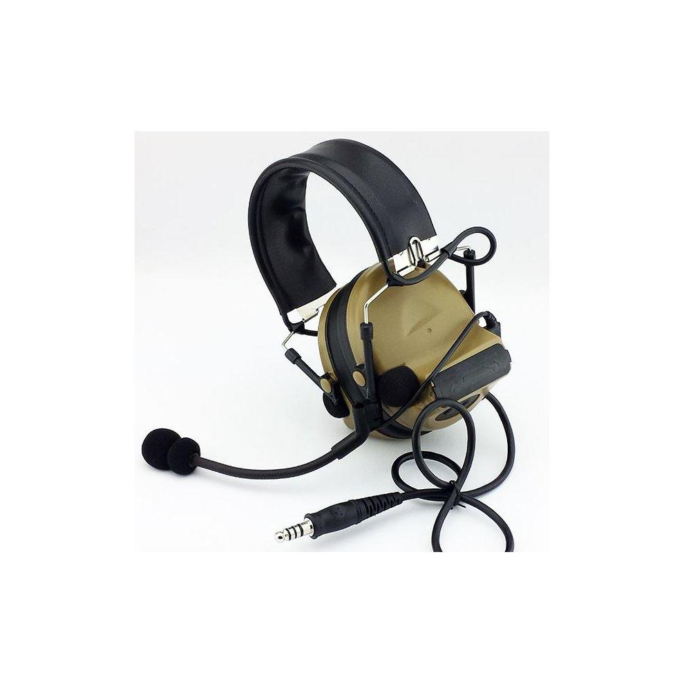 56ff4a7d8db Airsoft Tomtac Comtac Ii 2 Headset Mic Boom Radio Peltor Design Tan De. >