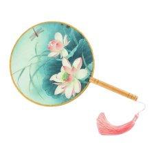 Elegant Hand Fan Aulic Circular Fan Chinese Fans Handheld Fan Mandarin Fan K