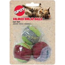 "Colored Burlap Balls 1.5"" 3/Pkg-Assorted"