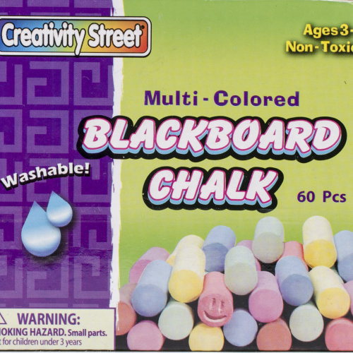 Blackboard Chalk 60/Pkg-Assorted Colors