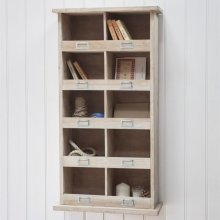 Chedworth Tall Wooden Shelf Unit