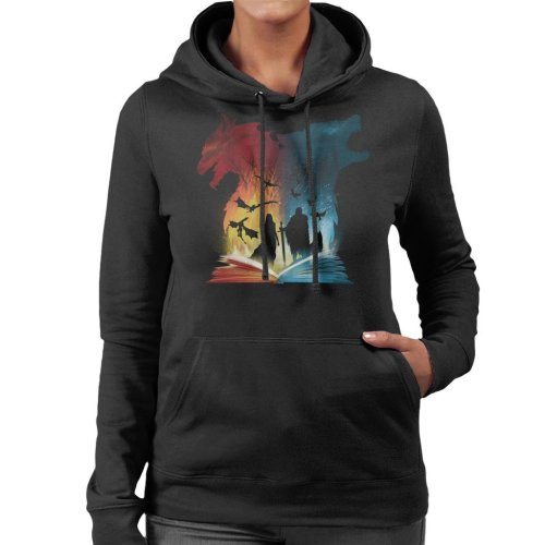 Book Of Fire And Ice Game Of Thrones Women's Hooded Sweatshirt