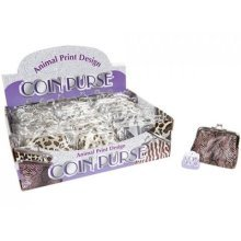 Animal Print Coin Purse -  womens ladies girls coin purse 10cm x 8cm skin style design tiger colur snake