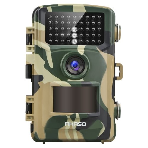 AKASO 14MP Trail Camera Night Vision 1080P Hunting Camera IP66 Waterproof Game Camera 120 Degree Wide Angle with 2.4 Inch LCD Loop Recording...