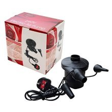240v Lightweight Electric Air Pump -  air pump electric 240v mains camping bed valve large
