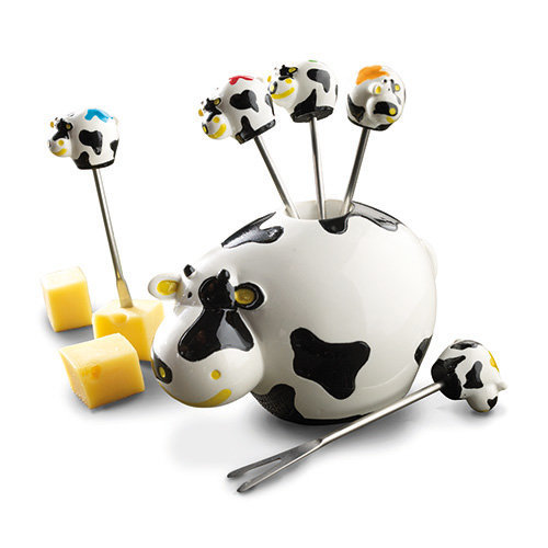 Boska Cow Shaped Party Cheese Pic Stick Set