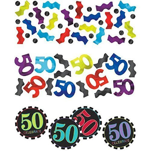 50th Chevron Confetti