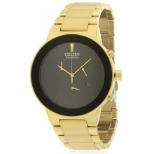Citizen Eco-Drive Axiom Gold-Tone Chronograph Mens Watch AT2242-55E