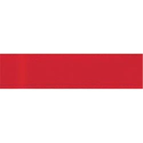 Offray 1017-250 Single Face Satin Ribbon 1-1-2 in. Wide 12 Feet-Red
