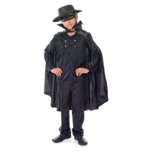 Bandit Cape + Shirt + Hat (s) -  bandit fancy dress costume childrens black kids zorro outfit boys