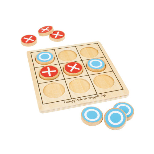Bigjigs Toys Wooden Noughts & Crosses Game