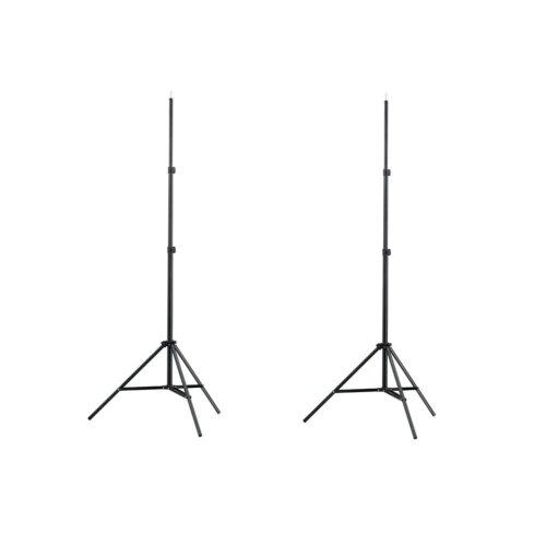 vidaXL 2x Light Stands 78-210cm Studio Mount Lighting Lamp Holder Support