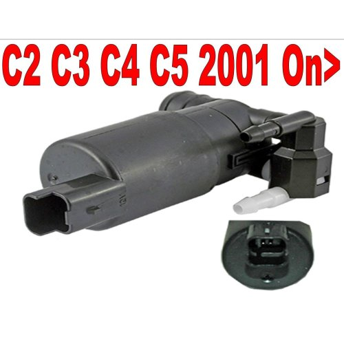 Direct Fit Twin Outlet Washer Pump Citroen C2 C3 C4 C5 2001 > on