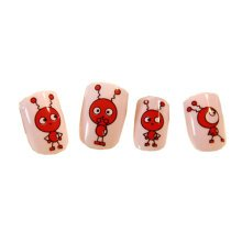 Stylish and Charming Pre-designed False Nails Art for Girls, Lovely Ants