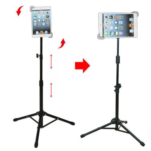 Adjustable 360 Rotating Foldable Tripod Stand Holder For Apple Ipad 1 2 3 4 Ai
