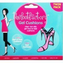 Twin Pack Gel Foot & Heel Cushions Ladies High Shoe Insole Comfort Party Feet
