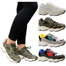 Women Running Fitness Sports Comfy Lace Up Trainer