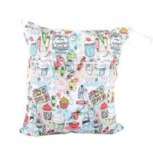 "Cake Candy Wet Bags Waterproof Diaper Bag Multi-function Nappy Bag -14""*11""White"