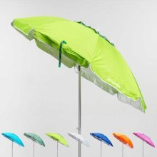Beach Umbrella UV Protection Windproof Aluminium 200cm CORSICA