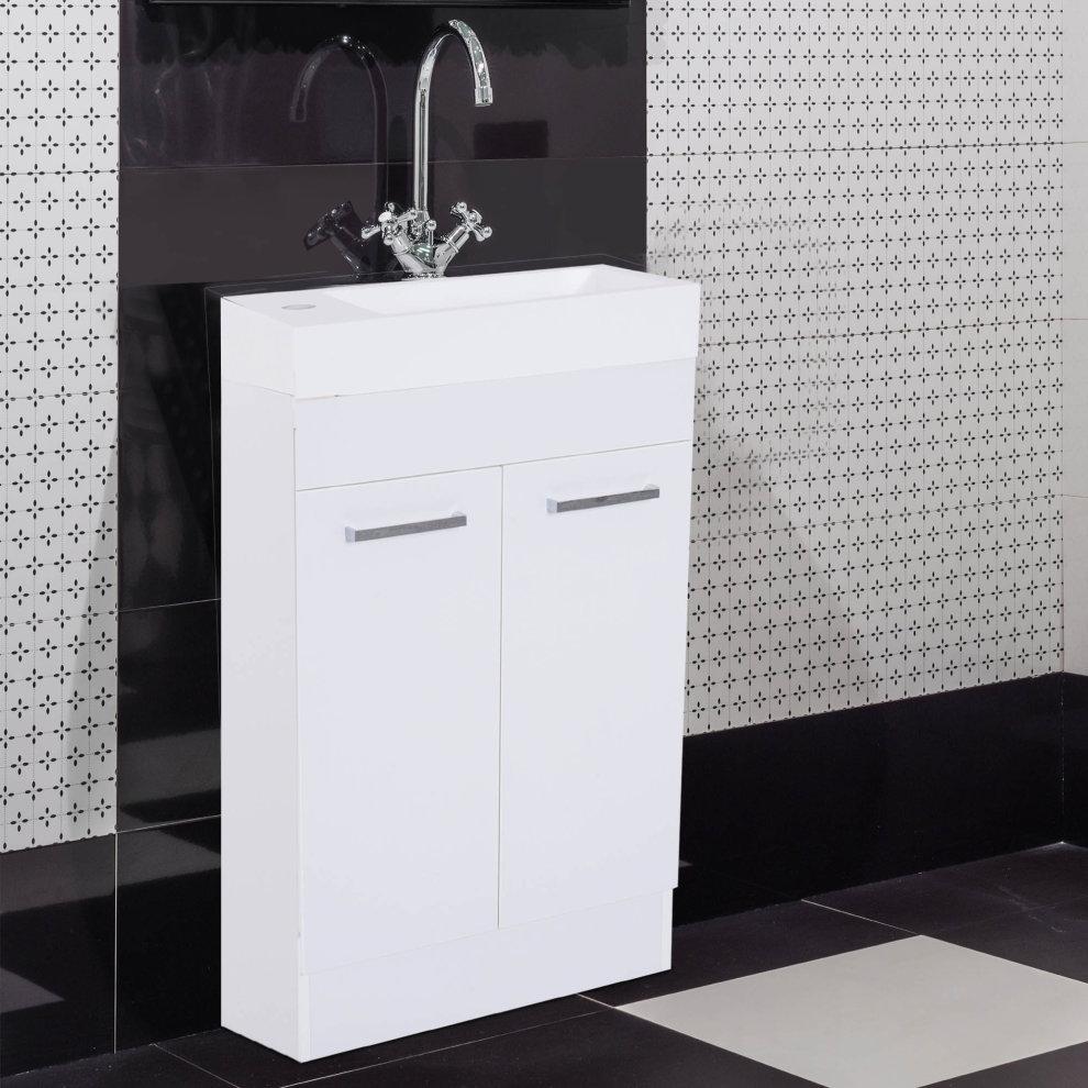 Kleankin Under Sink Bathroom Vanity Unit Ceramic Basin