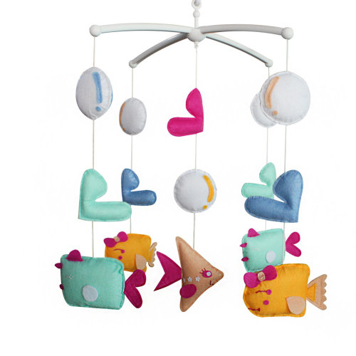 Baby Musical Mobile Baby Mobile Hanger Creative Baby Toy For Unisex[Fish]